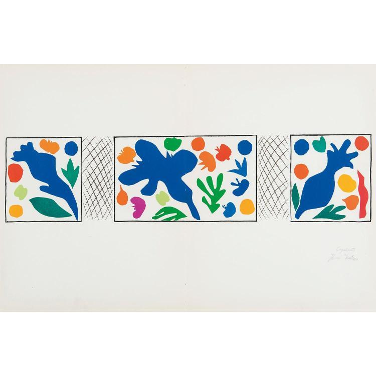HENRI MATISSE, D'APRÈS (1869-1954) LES PLONGEURS (Femmes et singes, la piscine)-ALGUES, 1958