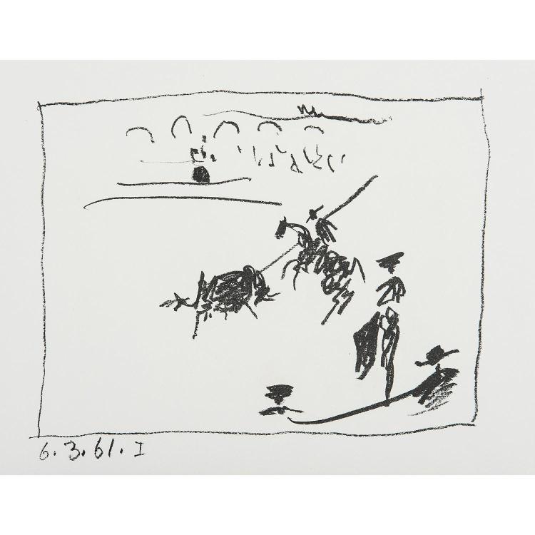 PABLO PICASSO (1881-1973) LA PIQUE- LA BANDERILLE, deux planches pour le livre