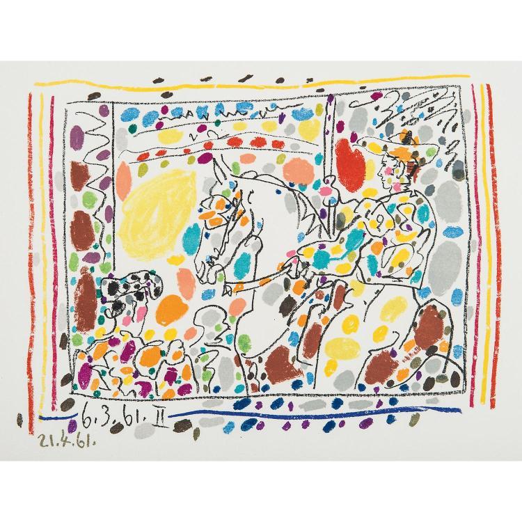 PABLO PICASSO (1881-1973) LE PICADOR II, planche pour le livre
