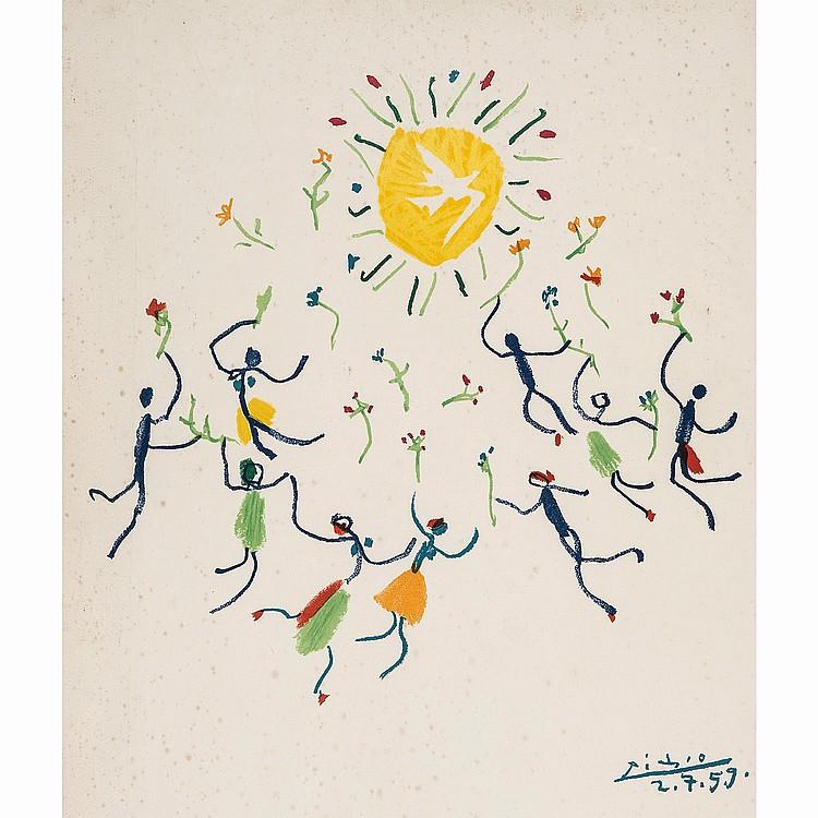PABLO PICASSO, D'APRÈS (1881-1973) LA RONDE DE LA JEUNESSE. 2.7.59