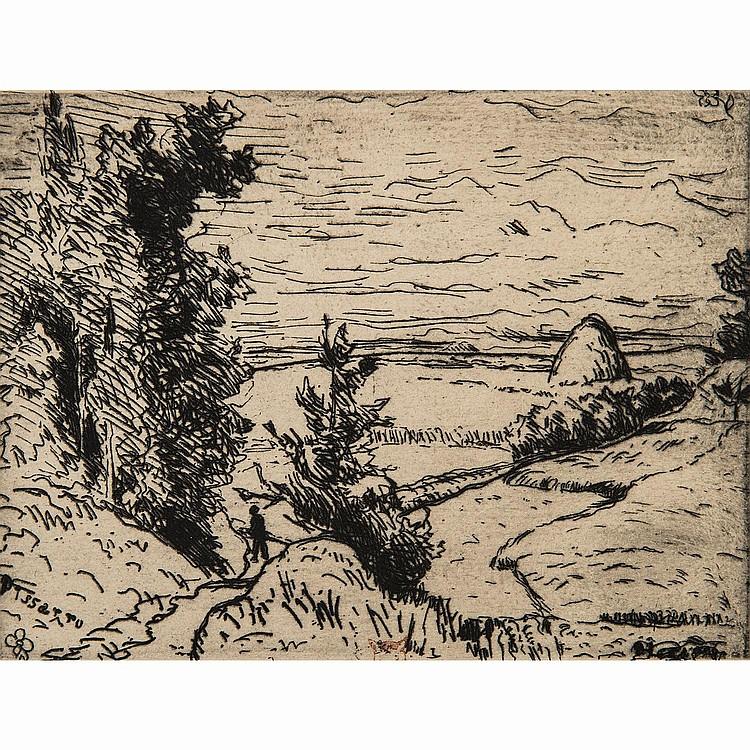 CAMILLE PISSARRO (1830-1903) COTEAUX À PONTOISE