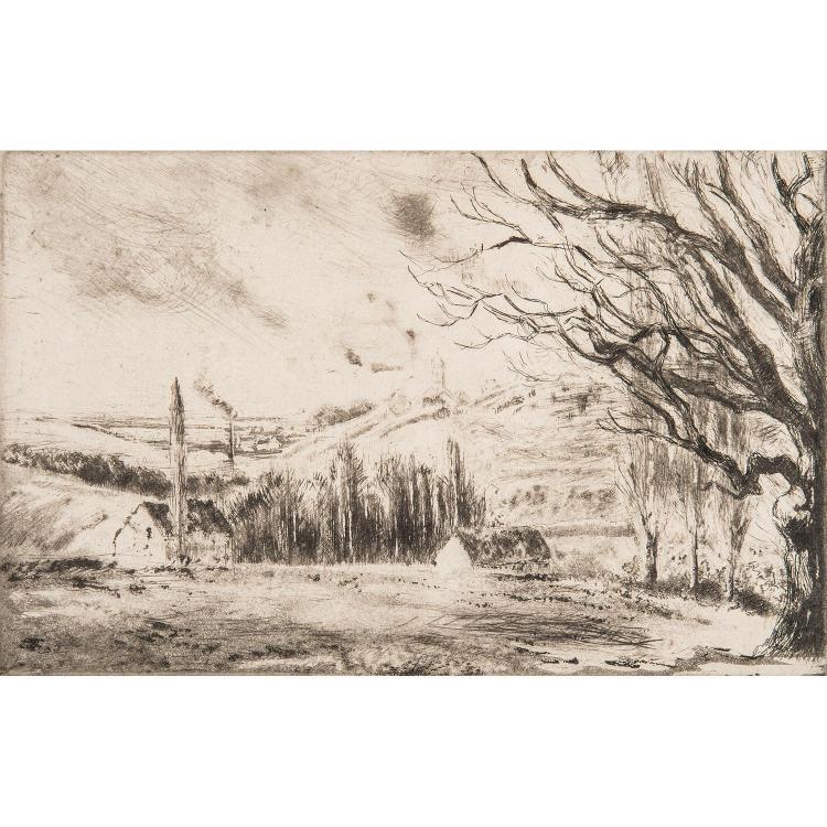 CAMILLE PISSARRO (1830-1903) VUE DE PONTOISE