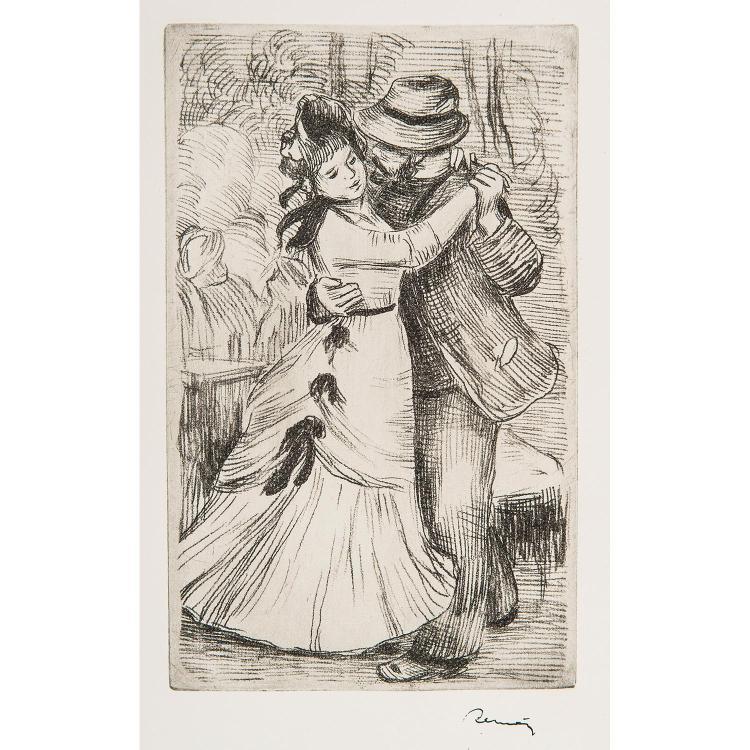 AUGUSTE RENOIR (1840-1919) DANSE À LA CAMPAGNE, 2e planche.