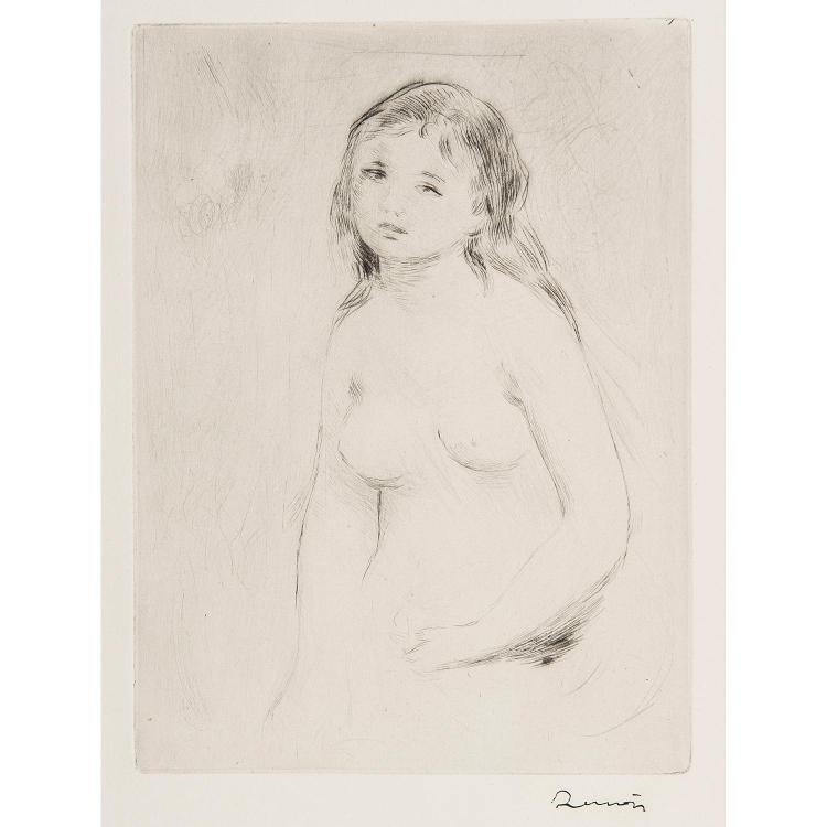 AUGUSTE RENOIR (1841-1919) ÉTUDE POUR UNE BAIGNEUSE