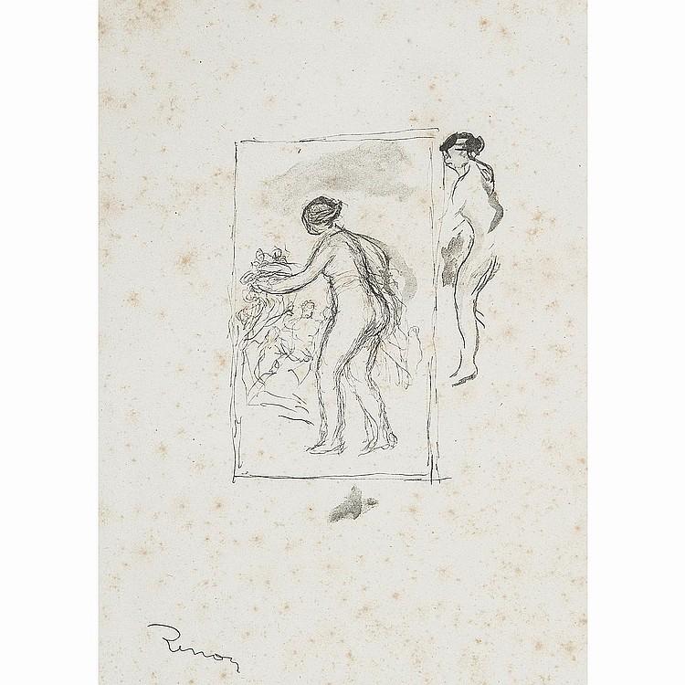 AUGUSTE RENOIR (1841-1919) FEMME AU CEP DE VIGNE, 4e variante