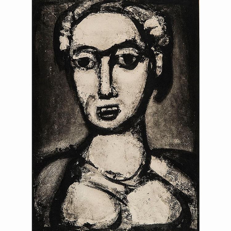 GEORGES ROUAULT (1871-1958) SATAN IV, PlancheXII pour Les Fleurs du Mal.