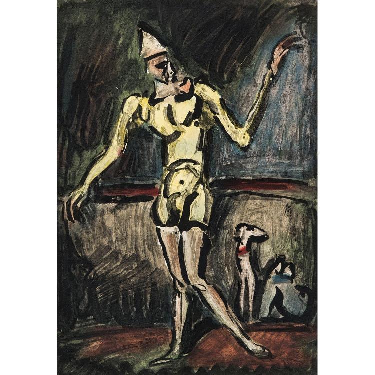GEORGES ROUAULT (1871-1958) LE CLOWN JAUNE