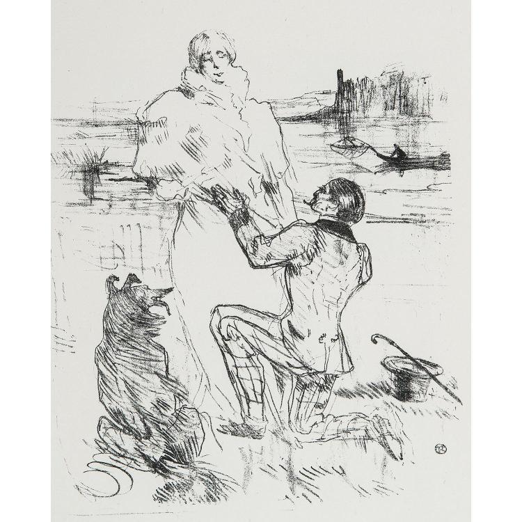 HENRI DE TOULOUSE-LAUTREC (1864-1901) COUVERTURE POUR LES COURTES JOIES-LA DÉCLARATION, 1re planche