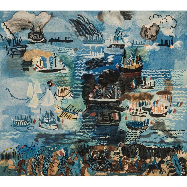 JACQUES VILLON (1875-1963) FÊTE NAUTIQUE d'APRÈS RAOUL DUFY