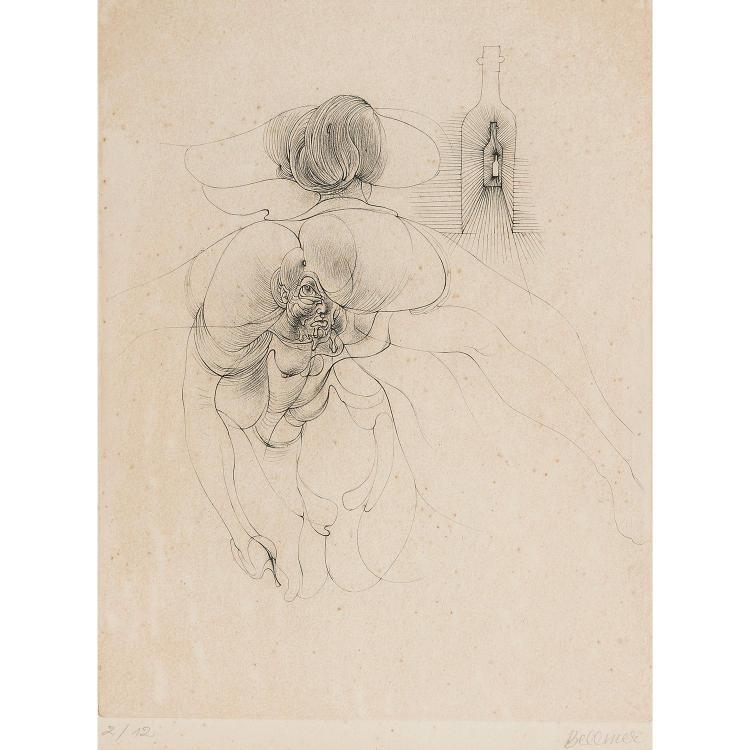 HANS BELLMER (1902-1975) PLANCHE DU PETIT TRAITE DE MORALE, 1968