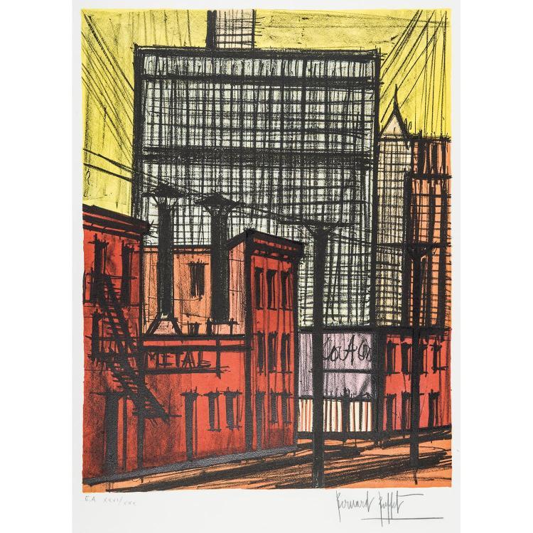 BERNARD BUFFET (1928-1999) BUILDINGS
