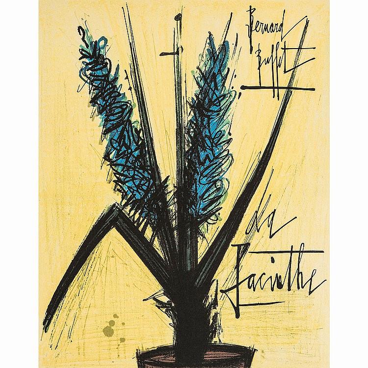 BERNARD BUFFET (1928-1999) JACINTHE, planche de l'Herbier