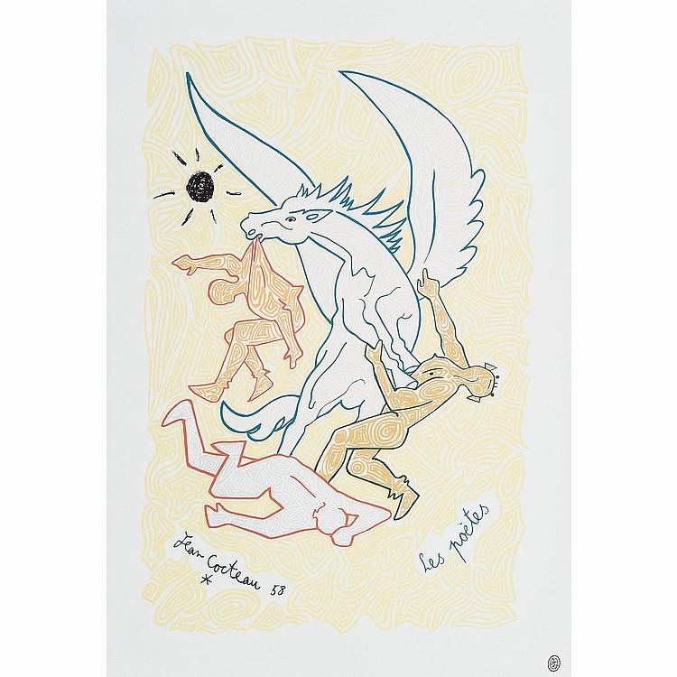 JEAN COCTEAU (1883-1969) LES POÈTES, 1958