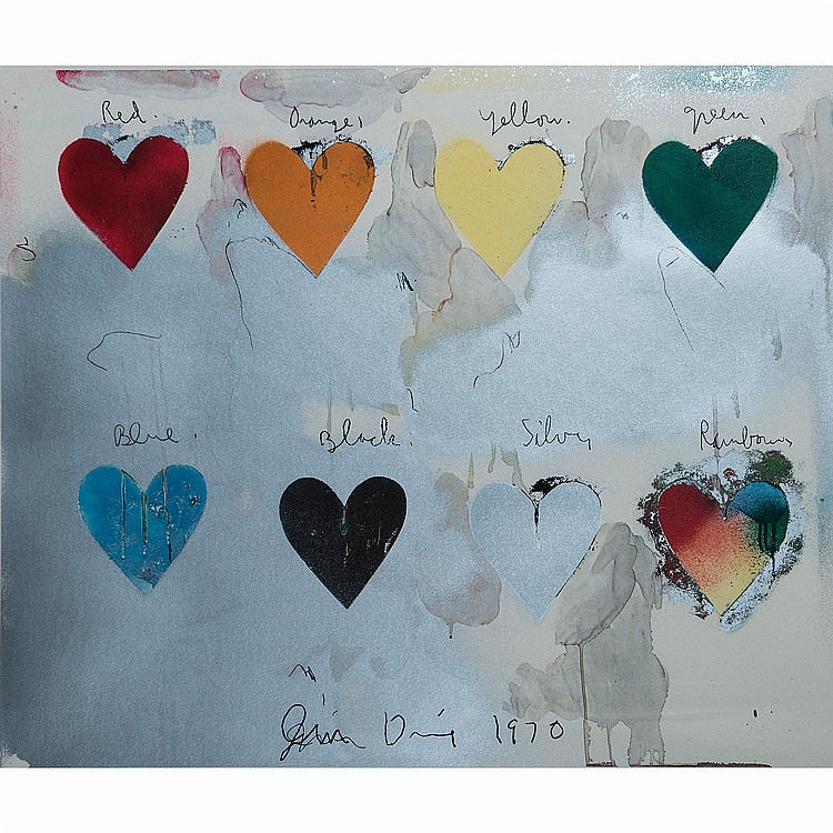 JIM DINE (NÉ EN 1935) EIGHT HEARTS, 1970
