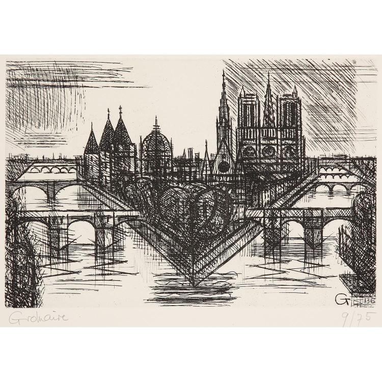 MARCEL GROMAIRE (1892-1971) PARIS LA CITÉ, 1952