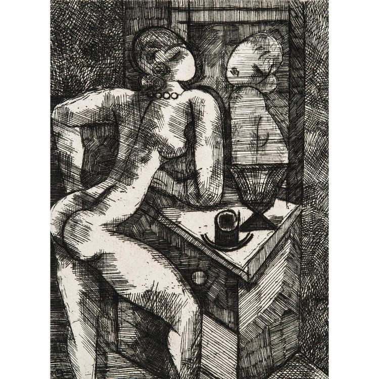 MARCEL GROMAIRE (1892-1971) NU SE MIRANT, 1931