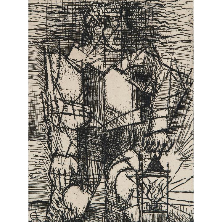 MARCEL GROMAIRE (1892-1971) LANTERNE, 1944