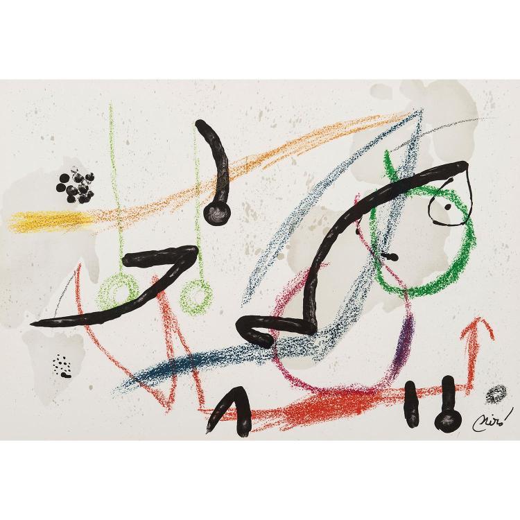 JOAN MIRO (1893-1983) MA DE PROVERBIS, 1970-MARAVILLAS CON VARIACIONES, 1975