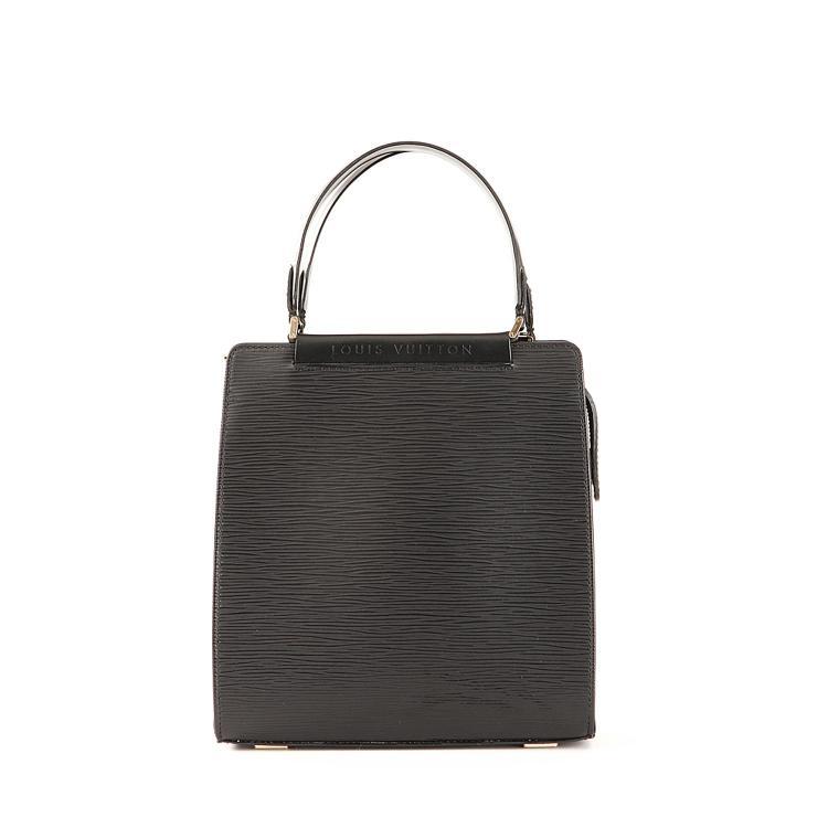 LOUIS VUITTON Sac à main Louis Vuitton en cuir epi noir
