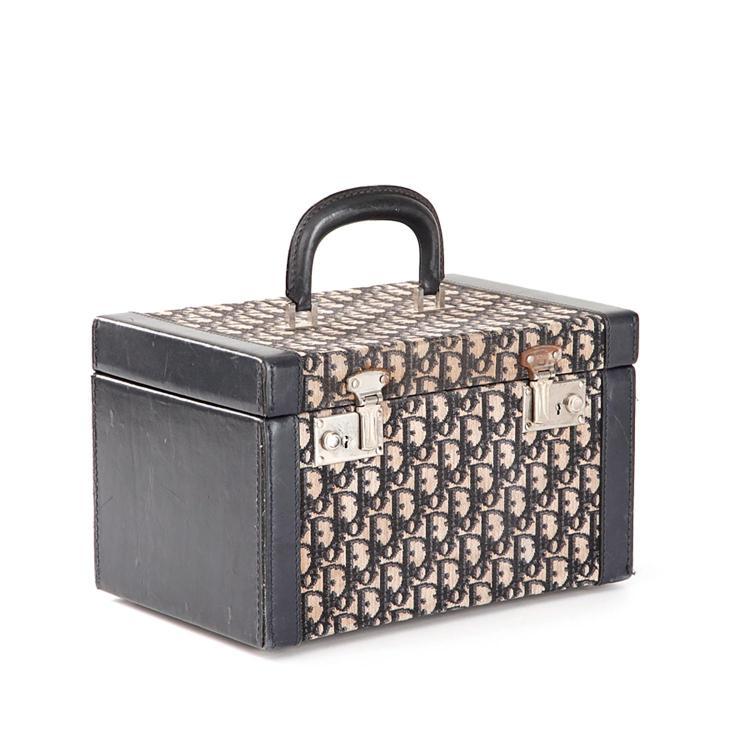 DIOR Vanity case Dior monogram Dior bleu marine et écru
