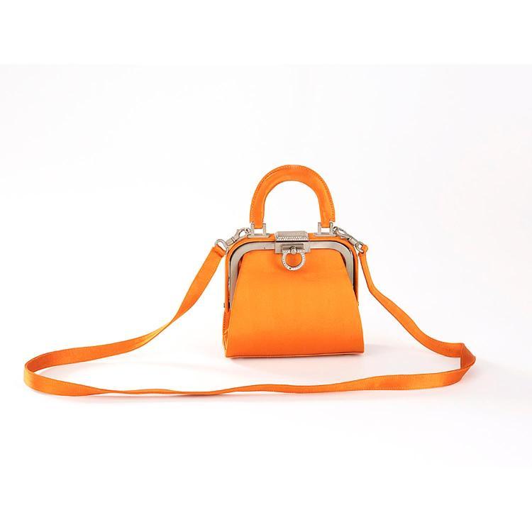 CHRISTIAN DIOR Petit sac du soir Christian Dior en satin orange