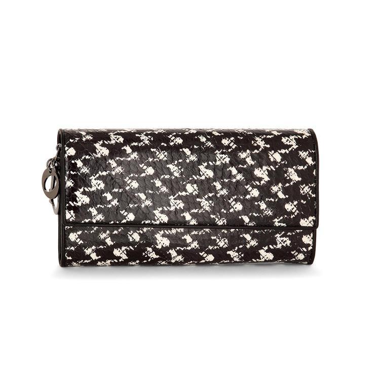 #DIOR - Portefeuille/porte monnaie Dior en python noir et blanc