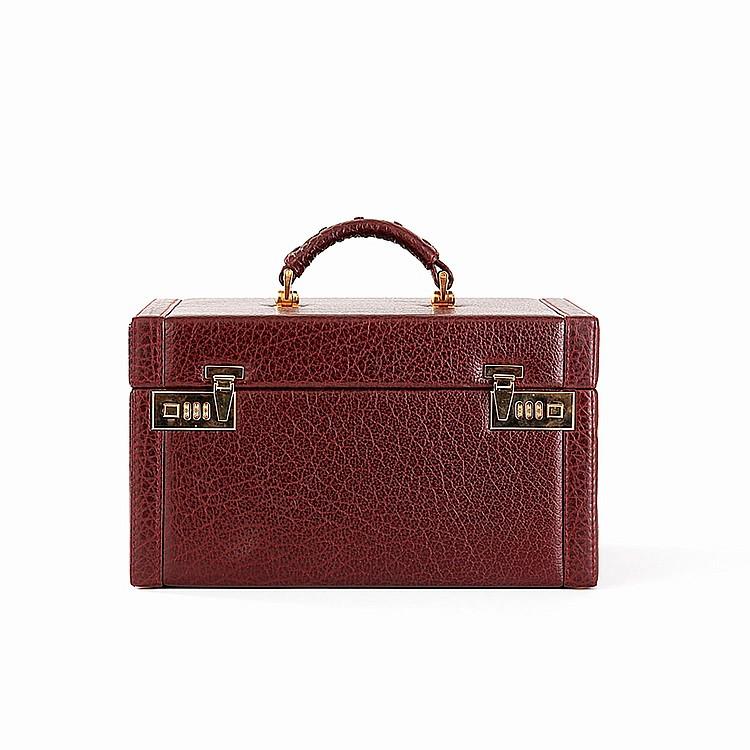 Mallette en cuir rouge - Leather briefcase