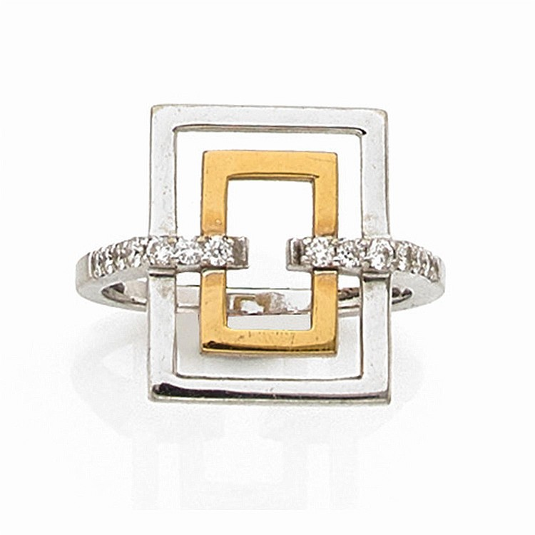 A diamond and gold ring.
