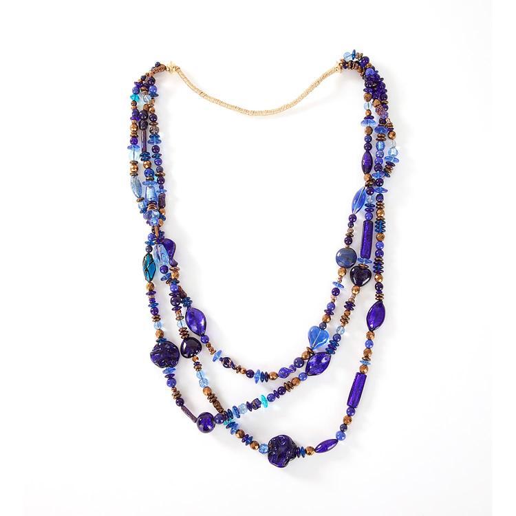 SAUTOIR VERRE DE VENISE A Venice glass long necklace.