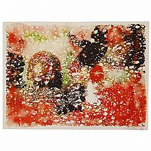 Mark Tobey (1890-1976). Sans titre, 1966. Gouache on paper; signed and dated 66 lower right. 4 3/4 x 6 1/2 in.