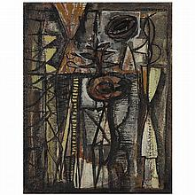 ƒWilliam Baziotes (1912-1963). Fleur du Mal, 1944. Oil on panel; signed, dated and titled on the reverse. 17 3/4 x 14 IN.