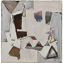 Geer Van Velde (1898-1977). Composition. Gouache on paper; signed with initials lower right. 8 1/4 x 7 7/8 in.