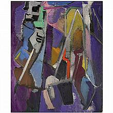 André Lanskoy (1902-1976). Sans titre, 1967. Oil on canvas; signed upper right. 28 3/4 x 23 5/8 in.