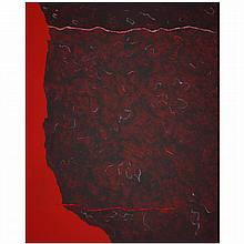ƒTheodoros Stamos (1922-1997). Edge of Burning Bush (A), 1986. Acrylic on canvas; signed, titled and dated on the reverse. 62 x 50 1/4