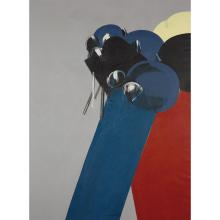 Júlio Pomar (né en 1926). Mai 68 (CRS-SS), 1968. Acrylic on canvas; signed and dated 68 lower middle; signed and titled on the reverse.