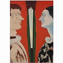 ƒJohn Graham (1886-1961). Sans titre (Adolfo and Anna Saporetti), circa 1943-46. Oil on canvas; inscribed