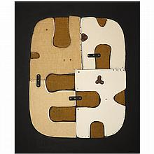 ƒConrad Marca-Relli (1913-2000). X-L-20-70, 1970. Mixed media collage on canvas; signed lower right; signed and titled on the reverse.