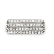 A diamond and platinum brooch, circa 1925.