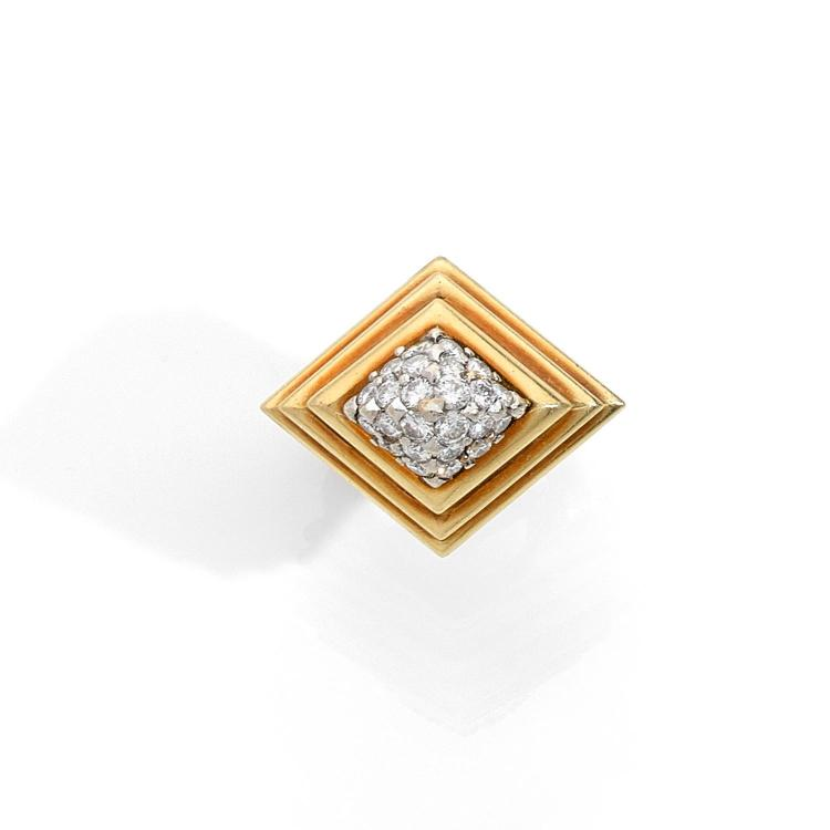 CARTIER A diamond and gold ring by CARTIER.
