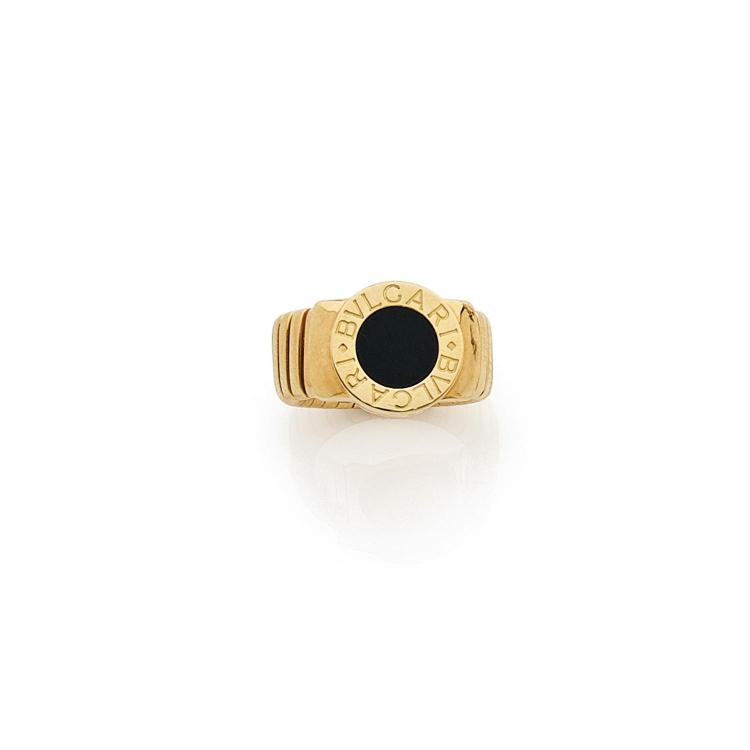 BULGARI An onyx and gold ring by BULGARI.