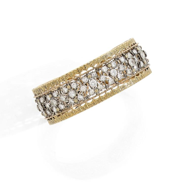 BUCCELLATI A diamond and gold bangle by BUCCELLATI.
