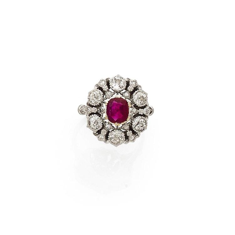 BUCCELLATI A ruby, diamond and gold ring by BUCCELLATI.