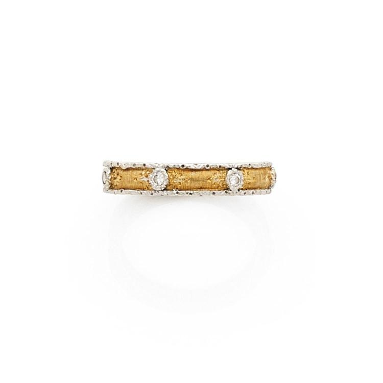 BUCCELLATI A diamond and gold ring by BUCCELLATI.