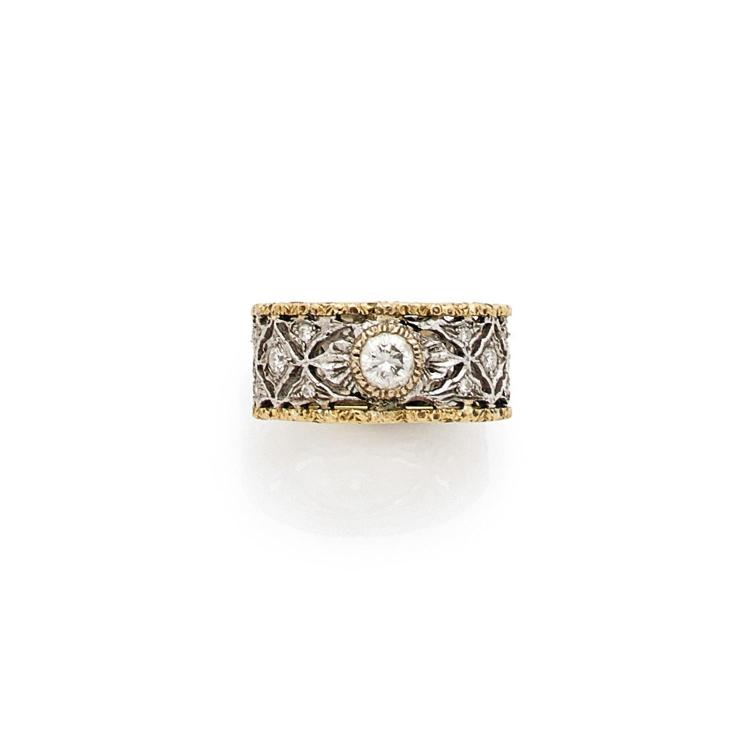 BUCCELLATI A diamond and gold ring by BUCCELLATI.