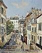 ƒ Jacques Bouyssou (1926-1997) Paris, l'escalier dans le 18ème Huile sur toile Signée en bas à gauche 80,5 x 65,5 cm 31 3/..., Jacques Bouyssou, Click for value