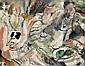 Gen Paul (Eugène Paul dit) (1895-1975) Le déjeuner, vers 1926 Huile sur toile Signée en haut à droite 73 x 92 cm 28 3/4 x 36 1/4 in,  Gen-Paul, Click for value