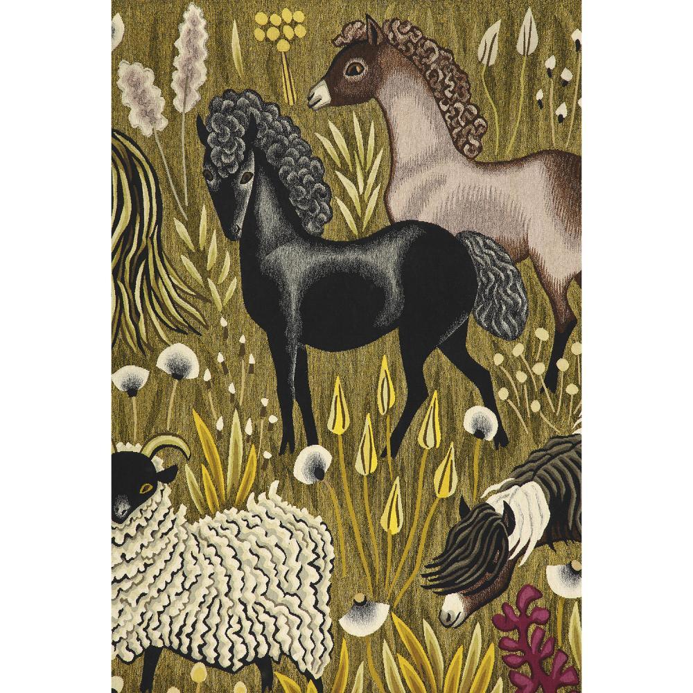 ƒ DOM ROBERT (GUY DE CHAUNAC-LANZAC, DIT) (1907-1997) & SUZANNE GOUBELY (ATELIER) COLLINE Tapisserie d'Aubusson basse lisse, créée e...