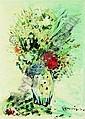 SYLVAIN VIGNY (1902-1970) BOUQUET DE FLEURS Huile sur papier signée en bas à droite..., Sylvain Vigny, Click for value