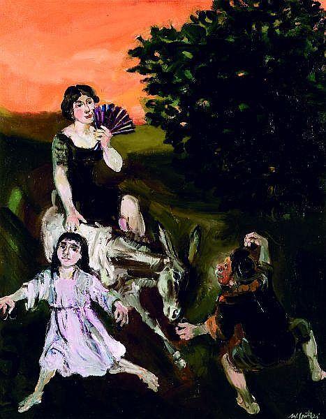 WALTER SPITZER (Né en 1927) SCENE CHAMPETRE Huile sur toile signée en bas à droite