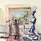 ISAAC DOBRINSKY (1891-1973) LATELIER DU PEINTRE Huile sur toile, Isaac Dobrinsky, Click for value